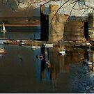 CAERNARFON CASTLE & SEIONT RIVER OIL IMPRESSION by NICK COBURN PHILLIPS