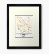 FLORENCE ITALY CITY STREET MAP ART Framed Print