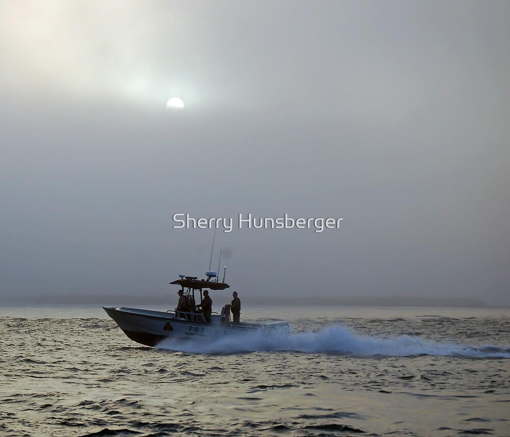 Sunset on the bay by Sherry Hunsberger