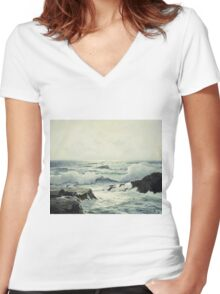 Frederick Judd Waugh - Silver Light Women's Fitted V-Neck T-Shirt