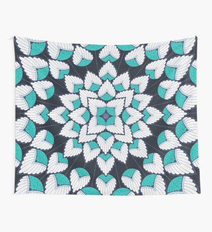 A Floral Burst Wall Tapestry