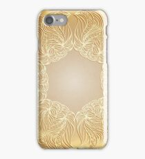 Paper lace on beige background iPhone Case/Skin