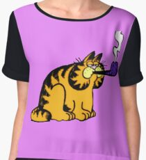 Garfield with pipe Chiffon Top