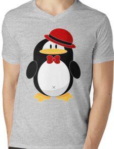 Pinguin XL Mens V-Neck T-Shirt