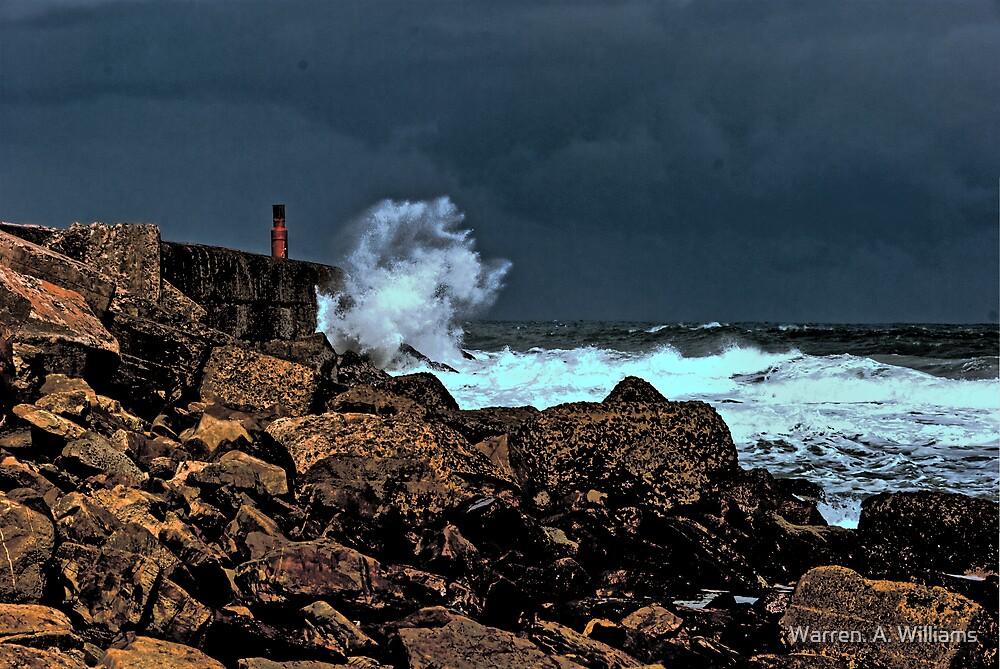 Stormy Sea by Warren. A. Williams