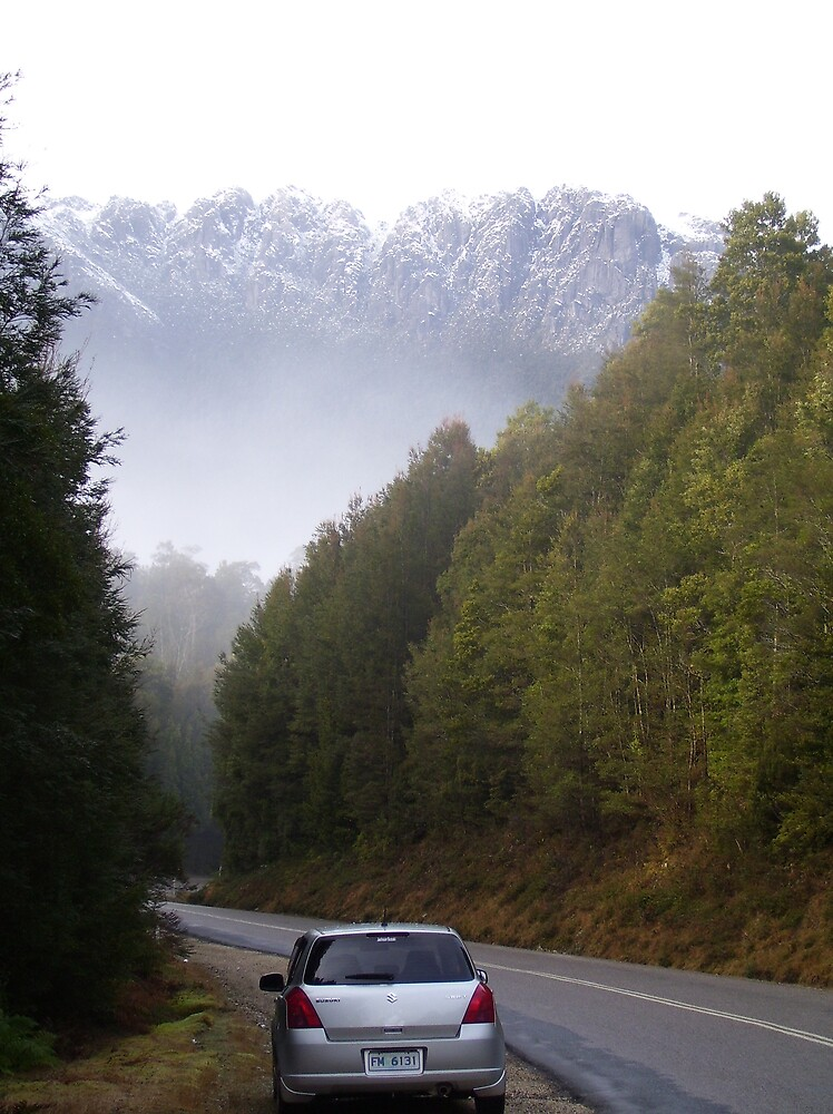 my favourite mountain and my car - two very special things by gaylene