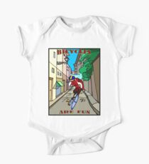 BICYCLES ARE FUN: Cartoon Racing Print Kids Clothes