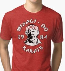 The Karate Kid - Mr. Miyagi - Miyagi Do Karate Tri-blend T-Shirt