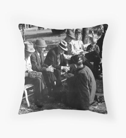 Courthouse Square Manchester Tennessee Throw Pillow