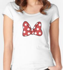 A Mouse's Bow Women's Fitted Scoop T-Shirt