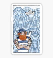 Seemann mit Seehund - Seaman With Seadog Sticker
