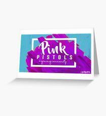 Pink Pistols Logo Greeting Card