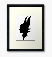Maleficent : Black Silhouette Framed Print