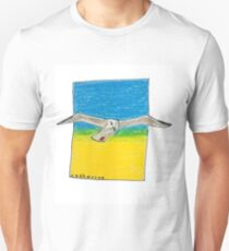 Soaring seagull in a clear sky Unisex T-Shirt