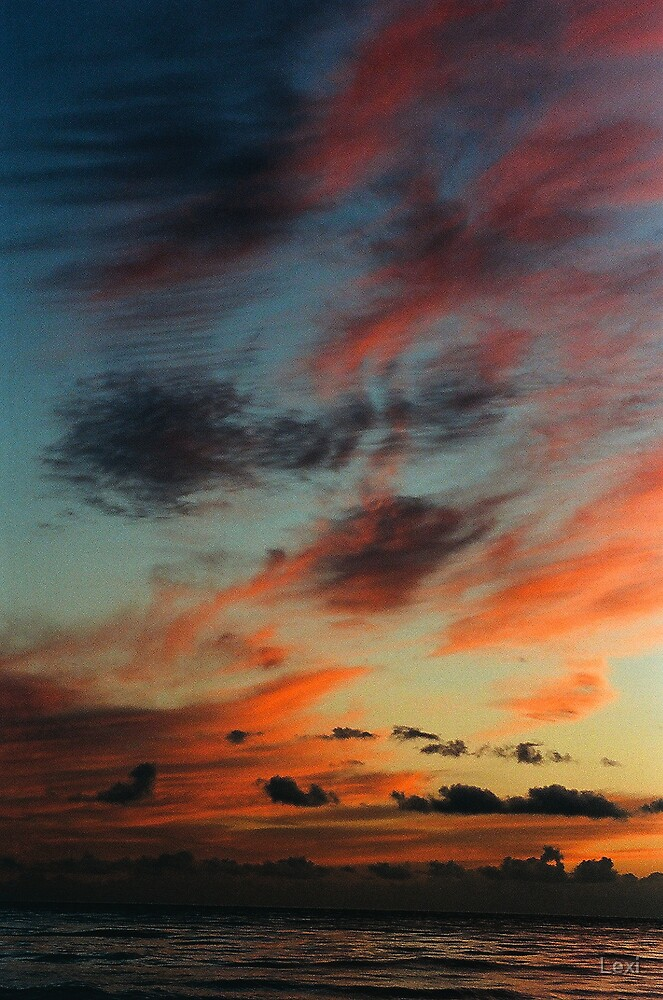 Clouds At Sunset by Lexi