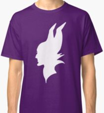 Maleficent : White Silhouette Classic T-Shirt