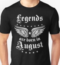 Legends are born in August Happy Birthday Super Star  T-Shirt