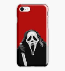 Scream - Ghostface with knife and phone iPhone Case/Skin
