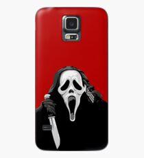 Schrei - Ghostface mit Messer und Telefon Hülle & Klebefolie für Samsung Galaxy