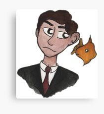 Mycroft and his Goldfish Canvas Print