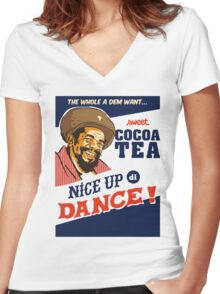 Nice Up Di Dance Women's Fitted V-Neck T-Shirt