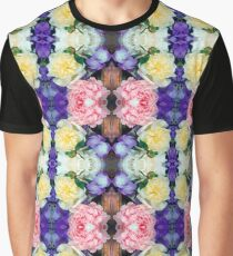 Dutch floral ornament of peony flowers. Graphic T-Shirt