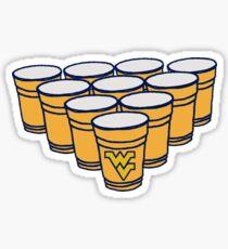 WVU Beer Pong Sticker
