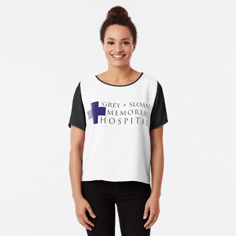 Grey + Sloan Memorial Hospital Chiffon Top