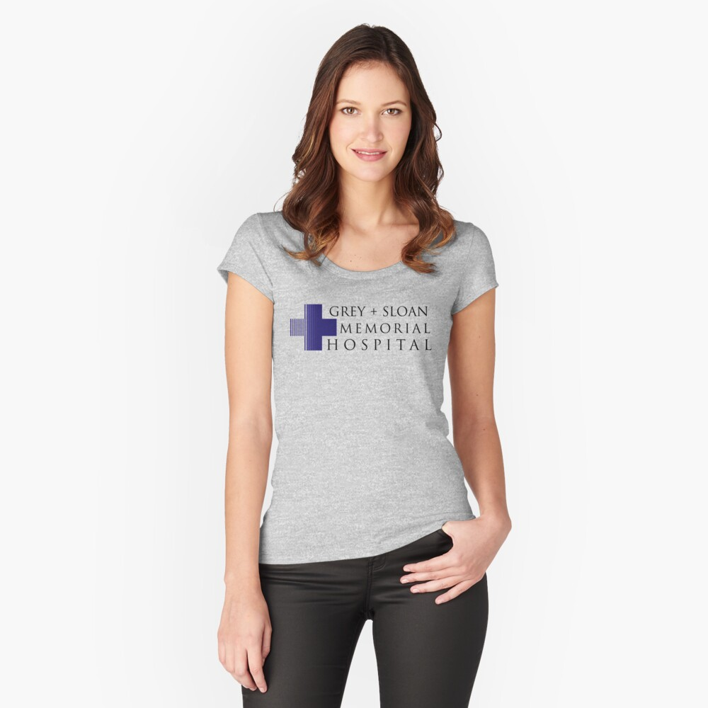 Grey + Sloan Memorial Hospital Fitted Scoop T-Shirt