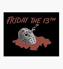 Gaming [C64] - Friday the 13th Photographic Print