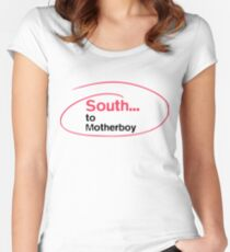 South... to Motherboy Women's Fitted Scoop T-Shirt