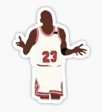 Michael Jordan Shrug Design Sticker