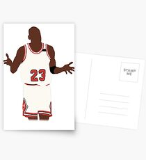 Michael Jordan Shrug Design Postcards
