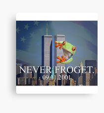 Never Froget 9/11/2001 Metal Print