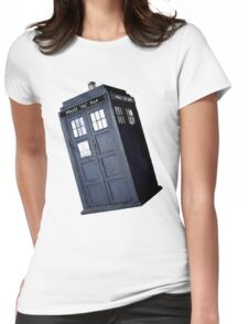 Artistic Tardis Womens Fitted T-Shirt
