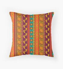Tribal Earth Tones Patterns Throw Pillow