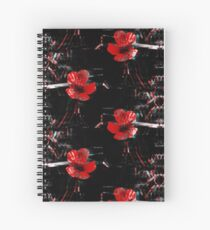 The Red Flower Spiral Notebook