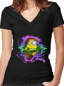 trippy archer Women's Fitted V-Neck T-Shirt