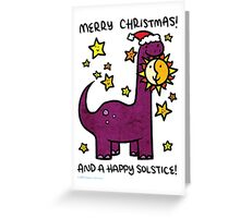 Christmas Dinosaur Brontosaurus Greeting Card
