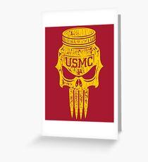 Marines: Punisher Jarhead Gold Greeting Card