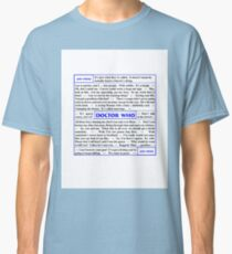 Quotes from Doctor Who - Amy Pond Classic T-Shirt