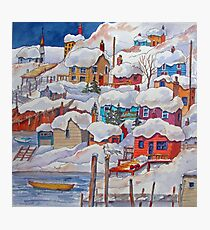 Snow on the Rock or Winter in St. John's (Newfoundland) Photographic Print