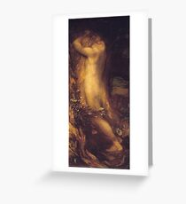 George Frederic Watts - Eve Repentant Around 1875 Greeting Card