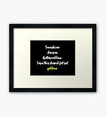 Stupid Fat Rat Yellow  Framed Print