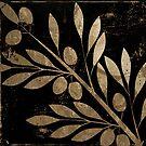 Belissima Gold Olives on Black by mindydidit