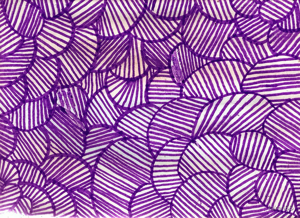 Purple Shapes and Lines By Karyn by karen66