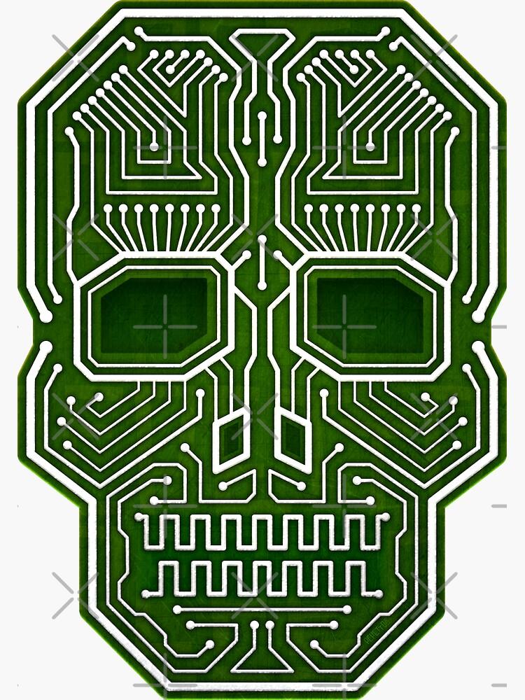 Schädel-Hacker lokalisierte Version von hacktees-shop