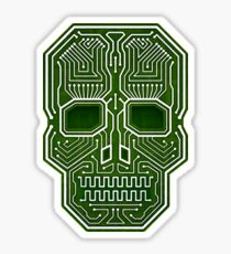 Skull Hacker Isolated Version Sticker