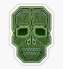Skull Hacker Isolated Version Sticker