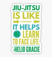 Brazilian Jiu-Jitsu Helio Philosophy Sticker